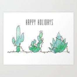 Christmas Cacti Art Print