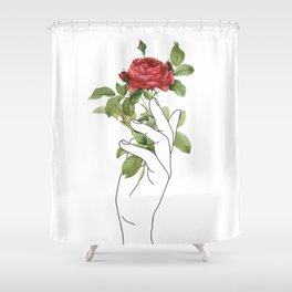 Flower in the Hand Shower Curtain