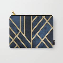 Art Deco Midnight Carry-All Pouch