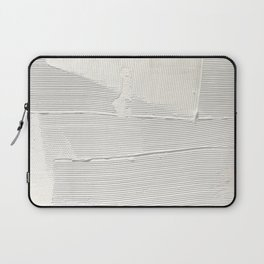 Relief [1]: an abstract, textured piece in white by Alyssa Hamilton Art Laptop Sleeve