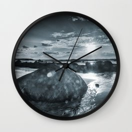 Sunset by the beach Wall Clock