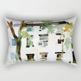 Brownstones and Tree Rectangular Pillow