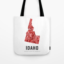 Idaho - State Map Art - Abstract Map - Red Tote Bag