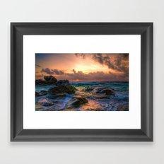 Aruba Sunrise Framed Art Print