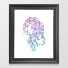 Two Heads are Better Than One Framed Art Print