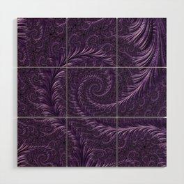 Deep Purple Wood Wall Art
