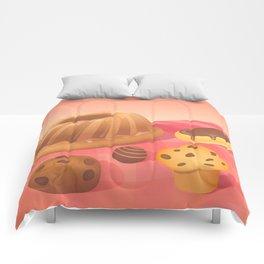 Chocolate & Almonds Comforters