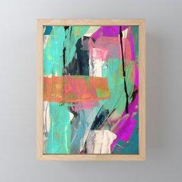 [Still] Hopeful - a bright mixed media abstract piece Framed Mini Art Print