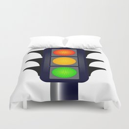 Hooded Traffic Lights Duvet Cover