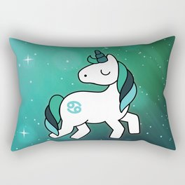 Cancer Unicorn Zodiac Rectangular Pillow