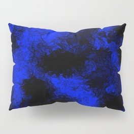 Blue neon and black modern decorative abstract design  Pillow Sham