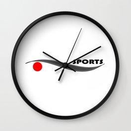 A sports logo Wall Clock
