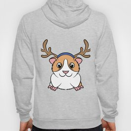 "Cute and adorable ""Guinea Pig Reindeer"" tee design. Perfect gift this holiday to your friends too!  Hoody"