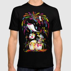 Yay! Bath Time! Mens Fitted Tee Black LARGE