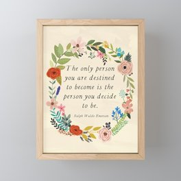 Emerson quote Framed Mini Art Print
