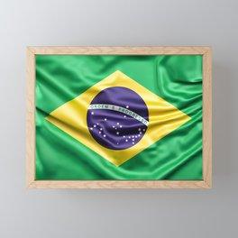 Flag of Brazil Framed Mini Art Print