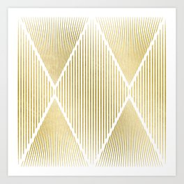 Folded Gold Art Print