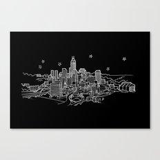 Indianapolis, Indiana City Skyline Canvas Print