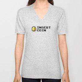 Insert coin Unisex V-Neck