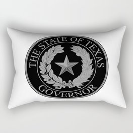 Texas State Governor Seal Rectangular Pillow