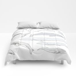Whales of the world Comforters