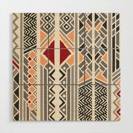 Tribal ethnic geometric pattern 034 Wood Wall Art