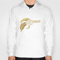 gun Hoodies featuring Banana Gun by Enkel Dika