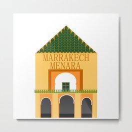 Marrakech menara Metal Print