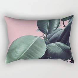 Ficus Elastica #14 #CoralBlush #decor #art #society6 Rectangular Pillow