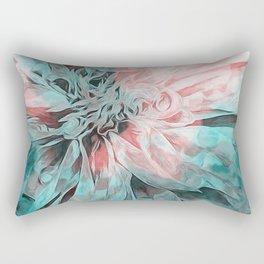 Abstract Floral Teal Rectangular Pillow