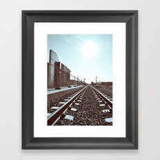Railway scenery Framed Art Print