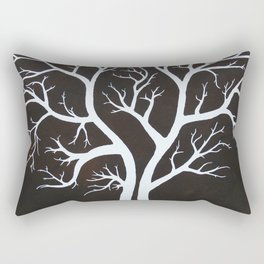 Autumn Branches Stylistic Tree Limbs Rectangular Pillow