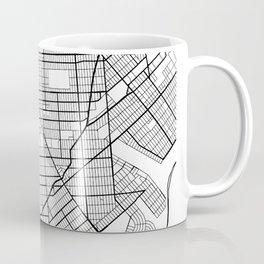 Brooklyn New York Street Map Minimal Coffee Mug