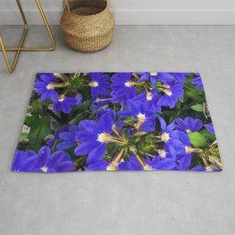 Blue-Purple Firecracker Explosion of Flowers Rug