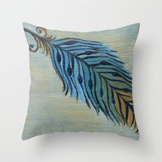 Tri-Color Feather Throw Pillow