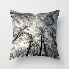 Sky-reaching Trees Throw Pillow