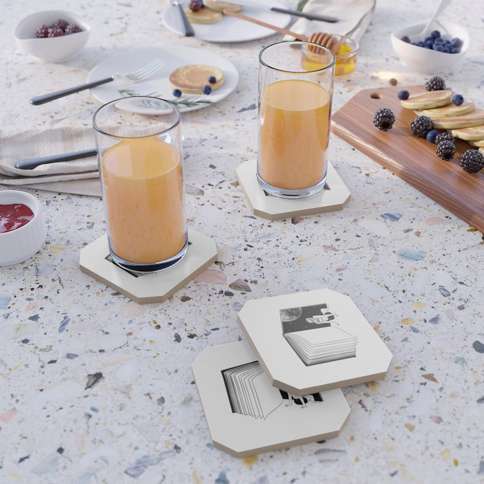Reading is Dreaming with Your Eyes Open Coaster