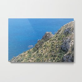 Hill in the penyon d'ifach in Calpe, Alicante Metal Print