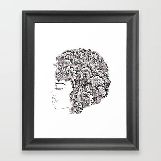 her hair Framed Art Print