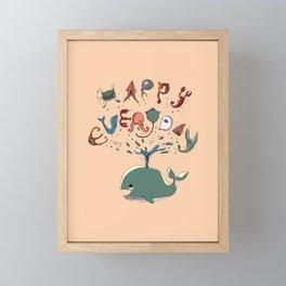 Happy Everyday Framed Mini Art Print