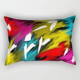 Neon Smoke Rectangular Pillow