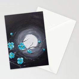 Full Moon and Blossoms Stationery Cards