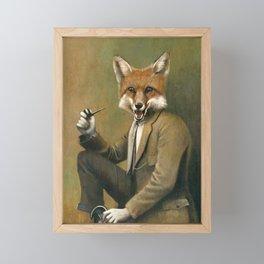 Vintage Fox In Suit Framed Mini Art Print