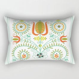 Folk Tulips No. 1 Rectangular Pillow
