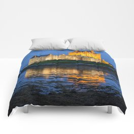 EILEAN DONAN CASTLE SCOTLAND NIGHT PHOTOGRAPHY Comforters