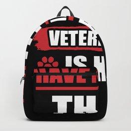 Great Veterinarian Gift Vet T Shirt Backpack