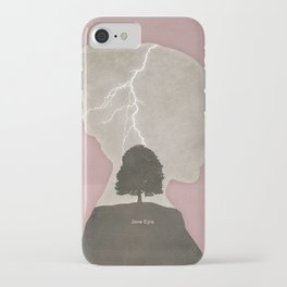 Charlotte Brontë Jane Eyre - Minimalist literary design iPhone Case