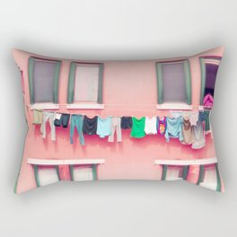 Laundry Venice Italy Travel Photography Rectangular Pillow