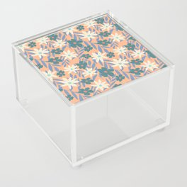 Just Peachy Floral Acrylic Box