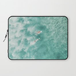 Surfing in the Ocean Laptop Sleeve